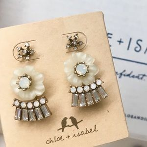 C+I Bella Fiore Convertible Jacket Earrings